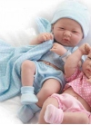 Muñecas Berenguer Boutique la Newborn LA NEWBORN, RECIEN NACIDO, NIÑO CON VESTIDO AZUL. 36 CM