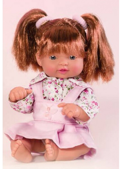 Muñecas Miel de Abeja ñacos de Miel 23cm Ñaco Pichi Rosa y Camisa Flores