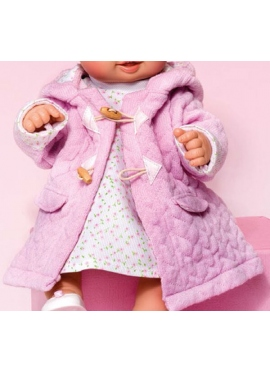 SET COAT DRESS PINK DOT
