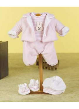SET FLEECE WHITE AND PINK