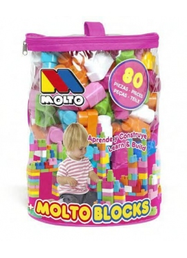 Bag Blocks 80 pieces Pink