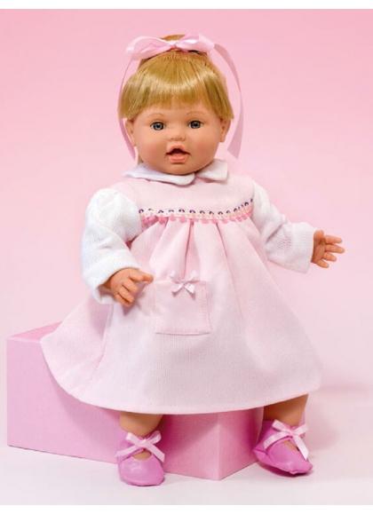 Muñecas Miel de Abeja Dani 42 Cm Danny Vestido Micropana Rosa