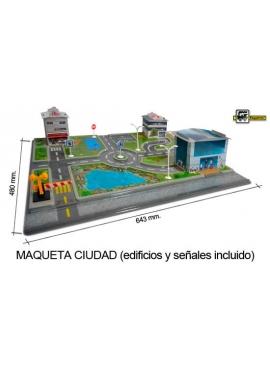 MAQUETA CIUDAD CON ACCESORIOS