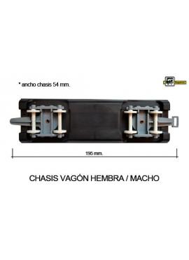 CHASIS VAGON ALTA VELOCIDAD HEMBRA-MACHO CON RUEDAS