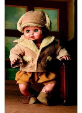 Juanin Bebe Set Trenka and hat Brown