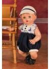 JUANIN BABY Тёмно-синяя однотонная юбка с кепкой
