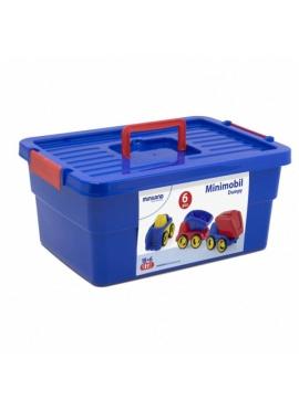 School Set Minimobil Dumpy Contenedor 6 Unidades