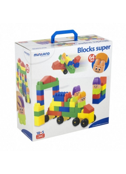 Super Blocks 64 pieces with the Characters