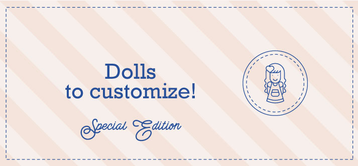 Buy dolls to customize here