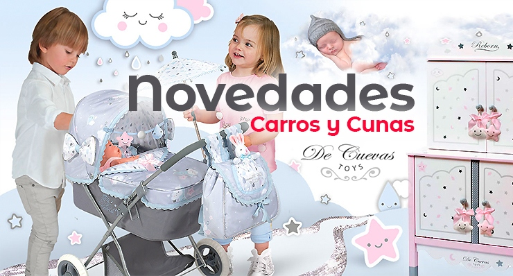 novelties in cars and cradles for dolls De Cuevas Toys