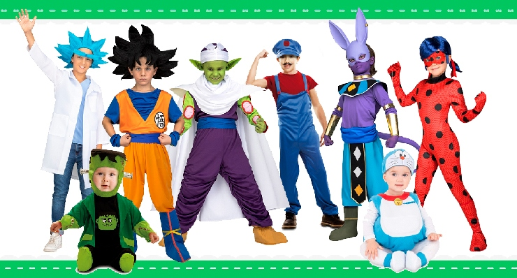 Children's costumes with economic shipping to your country