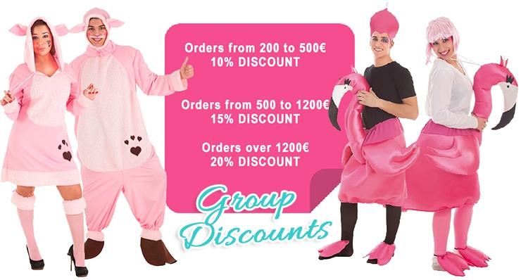 Le plaisir est à portée de clic et commencez à parcourir le vaste catalogue en ligne de costumes originaux pour groupes que Diversal met à votre disposition.
